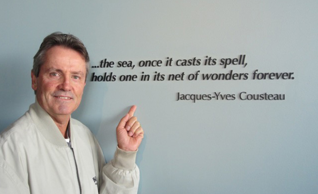 Mark McNulty Professional Golfer, Jaques Cousteau quote