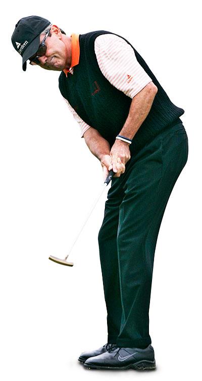 Mark McNulty Professional Golfer putting